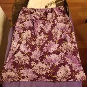 Express purple floral skirt